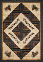 United weavers  Donna Sharp Genesis Cabin Rising Natural Area Rug 5'3'' x 7'6'' - $229.00