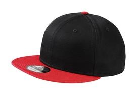 New Era 9Fifty Flat Brim Snapback Hat Cap Blank Black Scarlet 950 new - $12.00