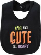 NEW Carter's Halloween Black Bib Glitter I' So Cute It's Scary - $8.86