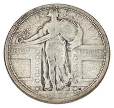 1917-S Type 1 Standing Liberty Quarter 25c (Very Good, VG Condition) - $73.26