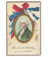 Patriotic Postcard George Washingtons Birthday Unsigned Clapsaddle Vntg ... - $4.99