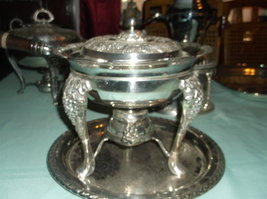 Vintage 1940s Silver Plated Chafing Dish - $60.00