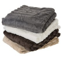 Cheer Collection Faux Fur to Microplush Reversible Throw Blanket - ₹2,649.57 INR