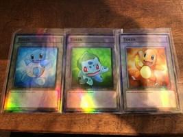 Yu-Gi-Oh! Pokemon Go Girl Token squirtle charmander bulbasaur  Orica/Ani... - $5.41