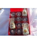 JC PENNY 12 DAYS OF CHRISTMAS ORNAMENT BELLS COLLECTION   NICE - $14.80