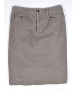 PERUVIAN CONNECTION Taupe Cotton Midi Pencil Straight Skirt Womens 2 Wai... - $14.84
