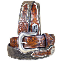 U-8-44 44 Inch M&F Western Nocona Mens Belt Cowboy Prayer Concho Dark Chocolate - $56.95