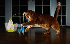 ALL FOR PAWS Electric Tumbler Cat Toy Feather Spinning Teaser Toys - $25.53 CAD