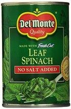 Del Monte No Salt Added Leaf Spinach (Pack of 6) 13.5 oz Cans - $27.45