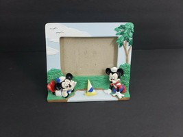 Vintage Walt Disney Company Mickey & Minnie Mouse Nautical Boat Picture Frame - $14.84