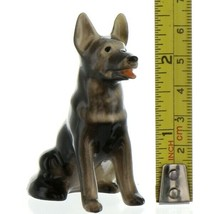Hagen Renaker Dog German Shepherd Sitting Ceramic Figurine image 2