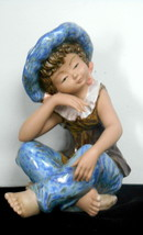 Vintage Tengra Spain Porcelain Spanish Sitting Girl Figurine - $45.00