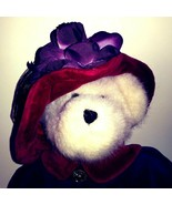 Boyds Red Hat Society Bear Plush Toy Ms Rouge Chapeau Purple Red 12″ Ret... - $24.14