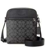 NEW COACH Houston Flight Crossbody Messenger Signature Logo Bag Black F7... - $112.00