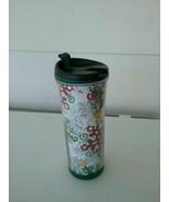 2007 Starbucks Winter Snowflake Themed Travel Coffee Mug 16oz Red White ... - $11.21