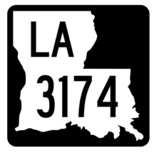 Louisiana State Highway 3174 Sticker Decal R6544 Highway Route Sign - $1.45+