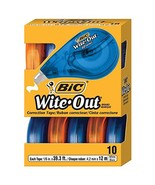 BIC Wite-Out Brand EZ Correct Correction Tape, White, 10-Count - $22.38