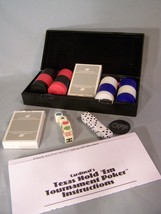 """Poker Cards & Dice, 100 Chips, On/Off Button, 15 Regular Dice, Case 9.5""""X4.2""""X2"""" - $9.24"""