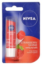 Nivea Lip Care Fruity Shine Strawberry, Reddish Pink Shade. 4.8gm. - $9.38