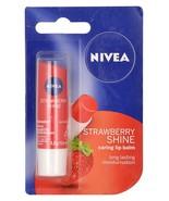 Nivea Lip Care Fruity Shine Strawberry, Reddish Pink Shade. 4.8gm. - $9.38