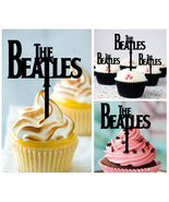 Mu1 Decorations cupcake toppers the beatles abbey road Silhouette : 10 pcs - $10.00