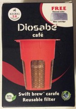 Swift Brew carafe 24k Gold Reusable Filter - BPA Free - From Diosabe - $18.77