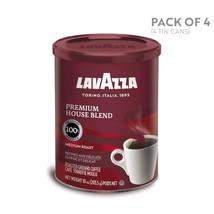 Lavazza Premium House Blend Ground Coffee, Medium Roast, 10-Ounce Cans P... - $39.12