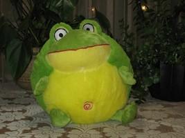 Eddy Toys Dutch Holland 11 Inch Croaking Frog Baby Safe - $84.97
