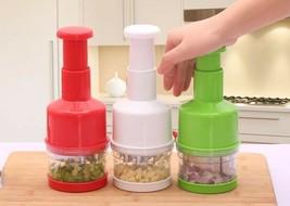 Vegetable Garlic Chopper Onion Cutter Stainless Steel Hand Pressure Kitc... - $15.88