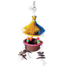 New Prevue Pet Tiki Hut Tropical Teasers Bird Toy 5x14 In 048081621882 - £27.24 GBP