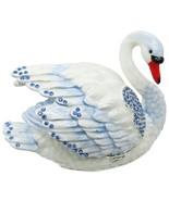 Swan Jeweled Trinket Box with SWAROVSKI Crystals, Blue - €64,13 EUR