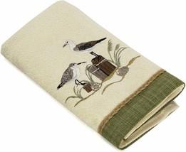 Avanti Sea Birds Bath Towel in Ivory Embroidered Beach Tropical Guest Bathroom - $45.52