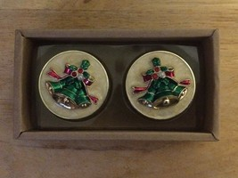 Bombay Christmas Bell Tealight Set Of 2 Candles In box - $7.81