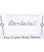 SEXY Crystal & Bead Body Word Tattoo BOMBSHELL - $8.99