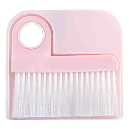 PANDA SUPERSTORE 2 PCS Dustpan Broom Suit Car Duster Brush Cleaning Brush(Pink)