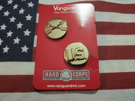 Us Army Special Forces Enlisted Dress Collar Brass Vanguard Mfg V-21 Regulation - $15.75