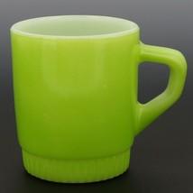 Fire-King D-Handle Ribbed Base Stacking Mug Lime Green image 1