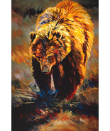 Wandering by Terry Lee Brown Grizzly Bear Wildlife Canvas Giclee L/E Pri... - $513.81