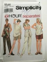 Simplicity Sewing Pattern 9546 Misses Separates Top Pants Vest Plus Sz 1... - $6.99