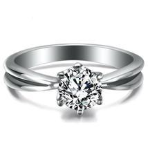 AAA Cubic Zirconia Channel setting Stainless Steel Wedding Rings for women Jewel