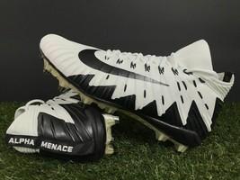 Nike Alpha Menace Elite Football Cleats White Black 877141-100 Mens Size 11 - $57.95