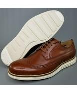 Cole Haan OriginalGrand Leather Long Wingtip Oxfords Mens SZ 8 Brogue Br... - $116.86