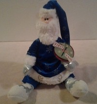 "2002 First & Main plush ""OLE ST. NICKLESBY SANTA COLLECTION"" with gift t... - $9.89"
