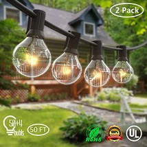 ORAOKO 2PACK 25FT G40 Globe String Lights with Clear Bulbs, UL Listed In... - $32.66