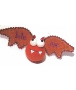 Orange Bat Kit Crazy halloween ornament cross stitch kit  Val's Stuff    - $16.20