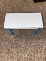 Vintage 1997 Mattel Barbie Dream House Furniture White & Blue Plastic Table - $12.87