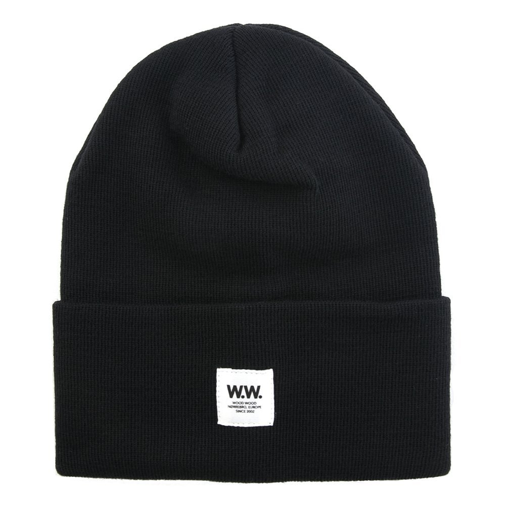 Wood Wood Tall Wool Beanie 11530812-4061 (Pool Black)