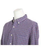 J Crew Blue Purple Check Plaid Long Sleeve Button Front Casual Shirt Men... - £17.87 GBP