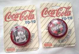 2 Duncan Coca Cola ALWAYS COOL YoYo's 1997 Polar Bear Baseball - Classic... - $29.99