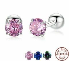 Small Ball Stud Earrings 925 Sterling Silver Wedding Party Gift Fashion ... - $12.99